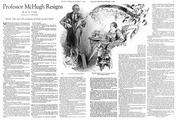 Article Preview: Professor McHugh Resigns, February 1st 1927 1927 | Maclean's