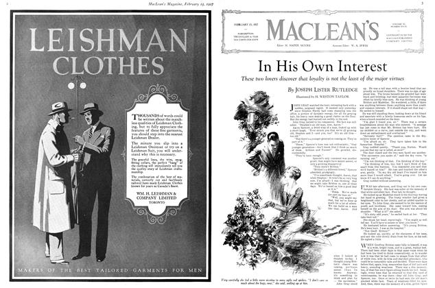 Article Preview: In His Own Interest, February 15th 1927 1927 | Maclean's