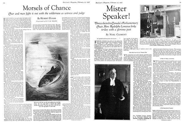 Article Preview: Mister Speaker!, February 15th 1927 1927 | Maclean's