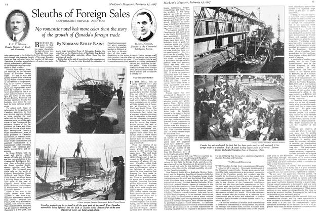 Article Preview: Sleuths of Foreign Sales, February 15th 1927 1927 | Maclean's