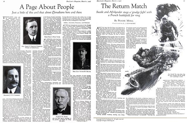 Article Preview: The Return Match, March 1st 1927 1927 | Maclean's