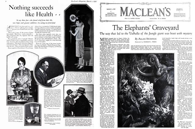 Article Preview: The Elephants' Graveyard, March 1st 1927 1927 | Maclean's