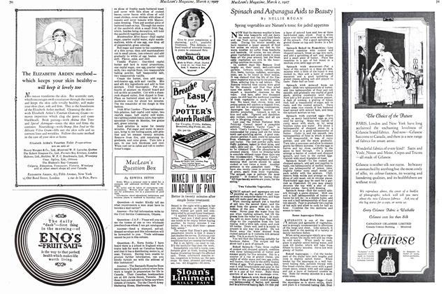 Article Preview: MacLean's Question Box, March 1st 1927 1927 | Maclean's