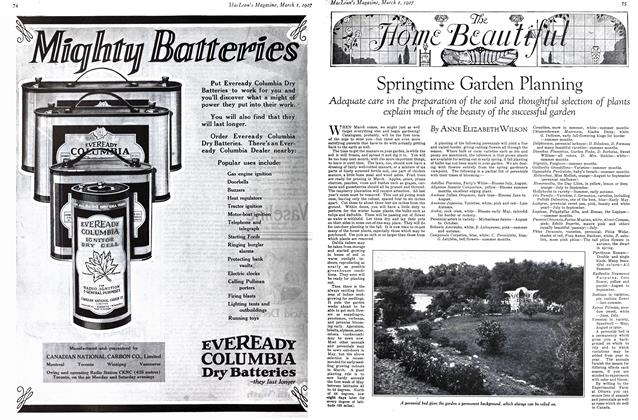 Article Preview: Springtime Garden Planning, March 1st 1927 1927 | Maclean's