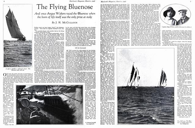 Article Preview: The Flying Bluenose, March 1st 1927 1927 | Maclean's