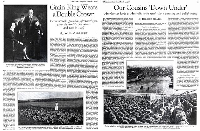 Article Preview: Grain King Wears a Double Crown, March 1st 1927 1927 | Maclean's