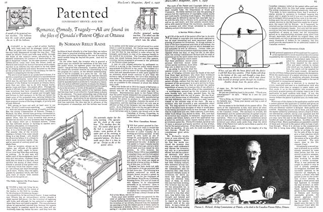 Article Preview: Patented GOVERNMENT SERVICE—AND YOU, April 1ST 1927 1927 | Maclean's