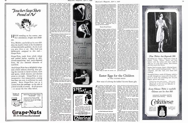 Article Preview: Easter Eggs for the Children, April 1ST 1927 1927 | Maclean's