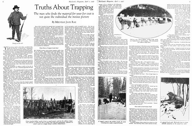 Article Preview: Truths About Trapping, April 1ST 1927 1927 | Maclean's
