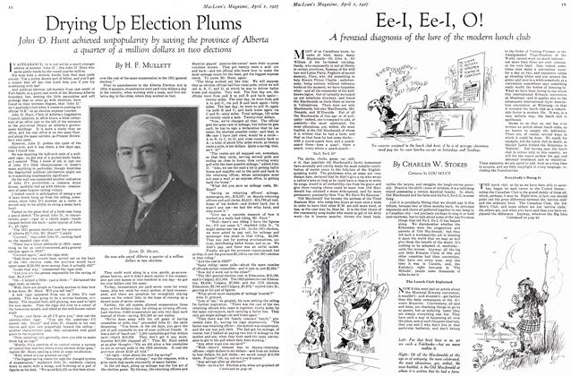 Article Preview: Ee-I, Ee-I, O!, April 1ST 1927 1927 | Maclean's