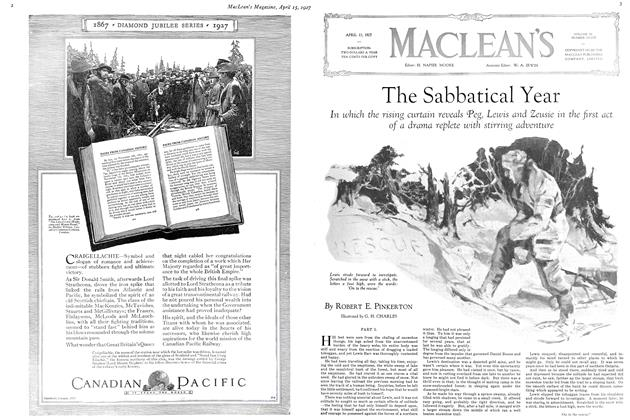 Article Preview: The Sabbatical Year, April 15th 1927 1927 | Maclean's