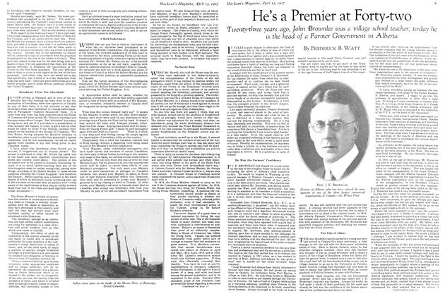 Article Preview: He's a Premier at Forty-two, April 15th 1927 1927 | Maclean's