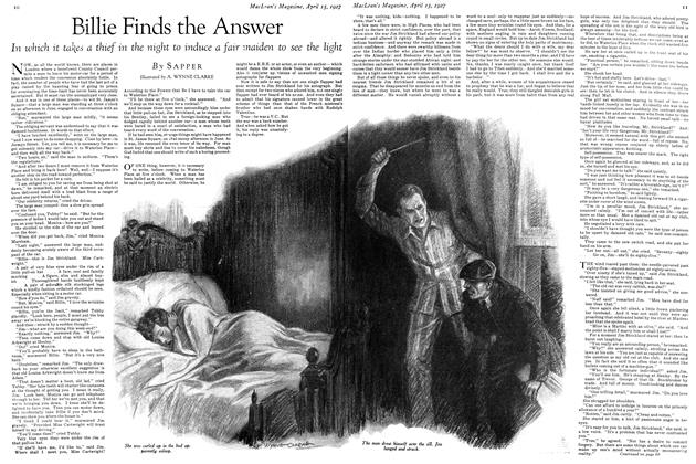 Article Preview: Billie Finds the Answer, April 15th 1927 1927 | Maclean's