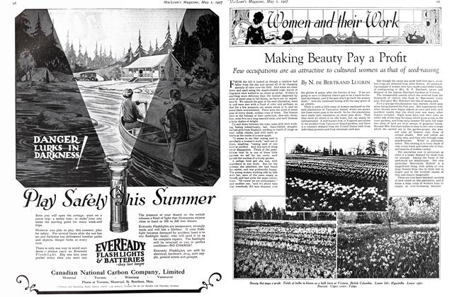Article Preview: Making Beauty Pay a Profit, MAY 1st 1927 1927 | Maclean's