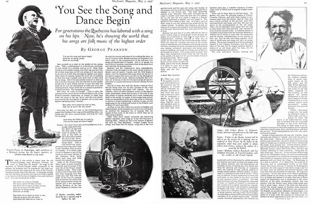 Article Preview: 'You See the Song and Dance Begin', MAY 1st 1927 1927 | Maclean's