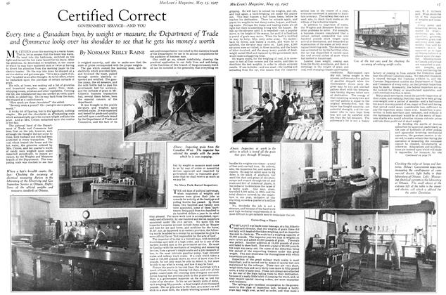 Article Preview: Certified Correct, May 15TH 1927 1927 | Maclean's