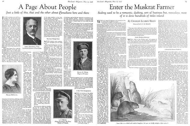 Article Preview: Enter the Muskrat Farmer, May 15TH 1927 1927 | Maclean's
