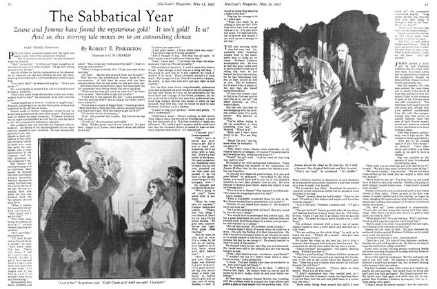 Article Preview: The Sabbatical Year, May 15TH 1927 1927 | Maclean's