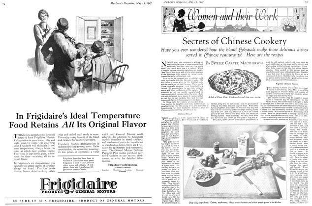 Article Preview: Secrets of Chinese Cookery, May 15TH 1927 1927 | Maclean's