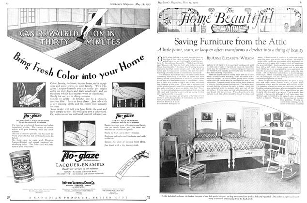 Article Preview: Saving Furniture from the Attic, May 15TH 1927 1927 | Maclean's