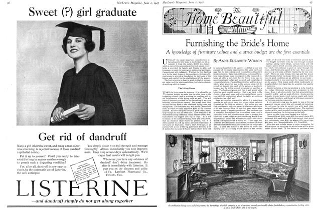 Article Preview: Furnishing the Bride's Home, June 1st 1927 1927 | Maclean's