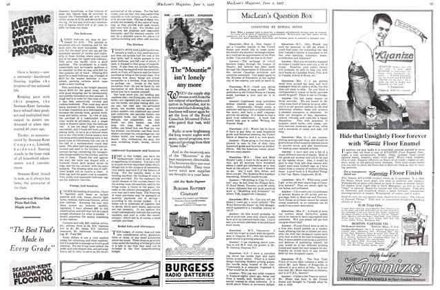 Article Preview: MacLean's Question Box, June 1st 1927 1927 | Maclean's