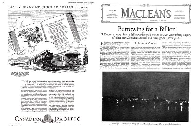 Article Preview: Burrowing for a Billion, June 15 th 1927 1927 | Maclean's
