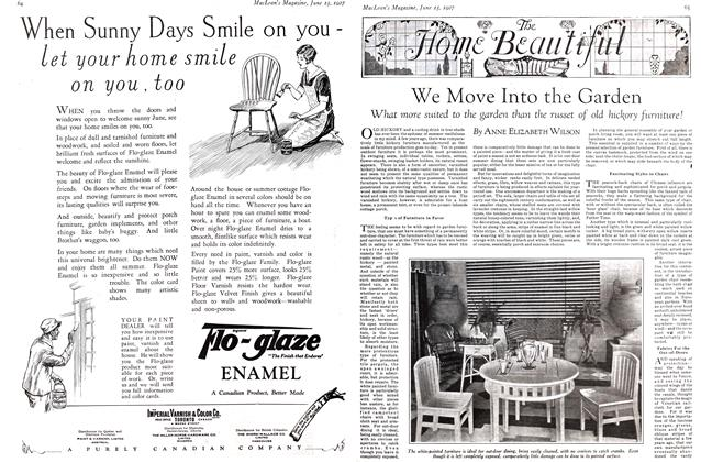 Article Preview: We Move Into the Garden, June 15 th 1927 1927 | Maclean's