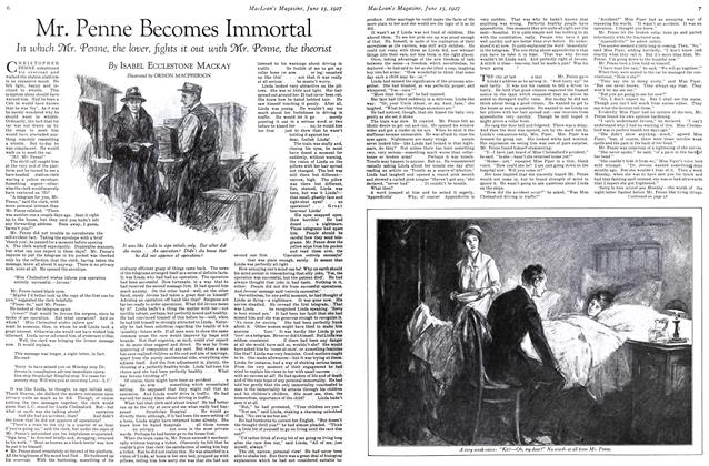 Article Preview: Mr. Penne Becomes Immortal, June 15 th 1927 1927 | Maclean's