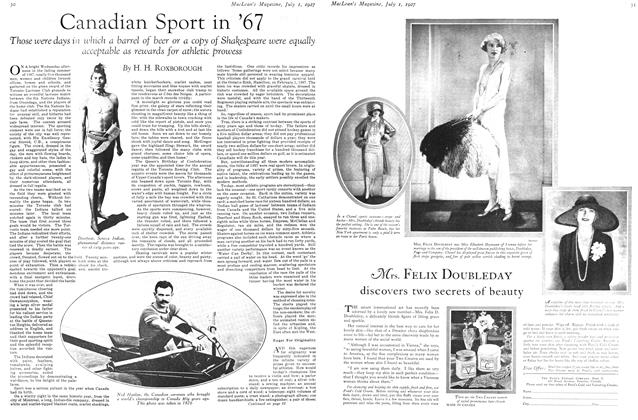 Article Preview: Canadian Sport in '67, July 1927 | Maclean's