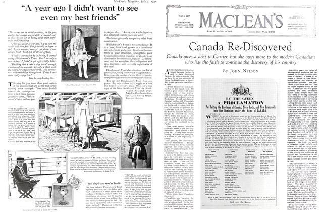Article Preview: Canada Re-Discovered, July 1927 | Maclean's