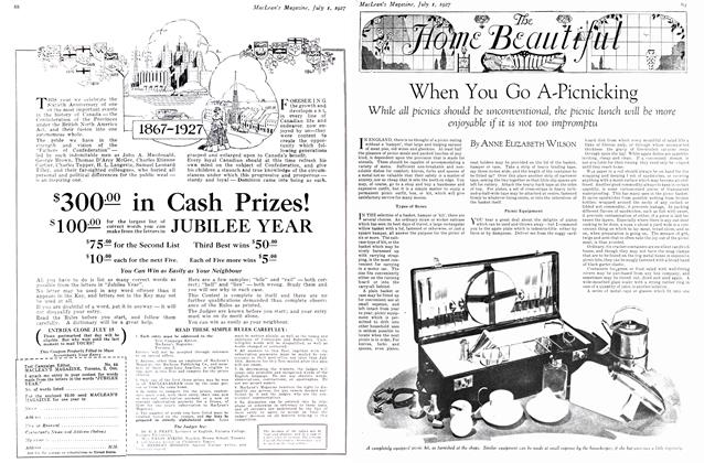 Article Preview: When You Go A-Picnicking, July 1927 | Maclean's