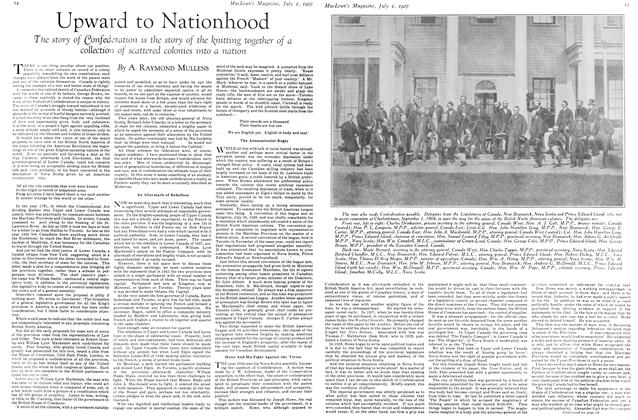 Article Preview: Upward to Nationhood, July 1927 | Maclean's
