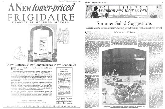 Article Preview: Summer Salad Suggestions, July 15th 1927 1927 | Maclean's