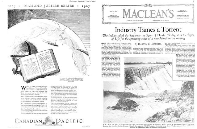Article Preview: Industry Tames a Torrent, July 15th 1927 1927 | Maclean's