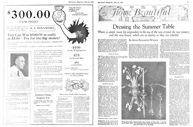 Article Preview: Dressing the Summer Table, July 15th 1927 1927 | Maclean's