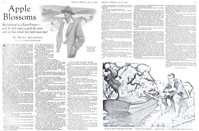 Article Preview: Apple Blossoms, July 15th 1927 1927   Maclean's