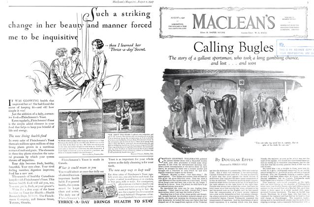 Article Preview: Calling Bugles, August 1927 | Maclean's