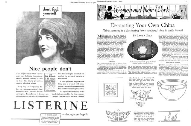 Article Preview: Decorating Your Own China, August 1927 | Maclean's