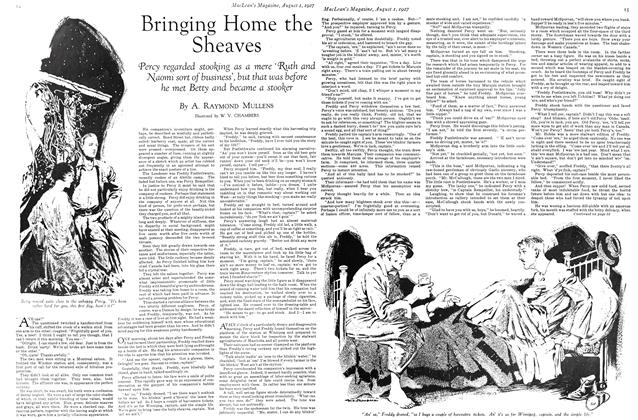 Article Preview: Bringing Home the Sheaves, August 1927 | Maclean's