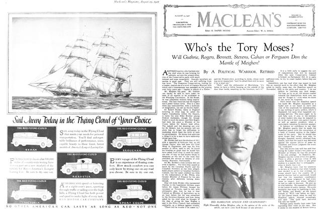 Article Preview: Who's the Tory Moses?, August 15th 1927 1927 | Maclean's