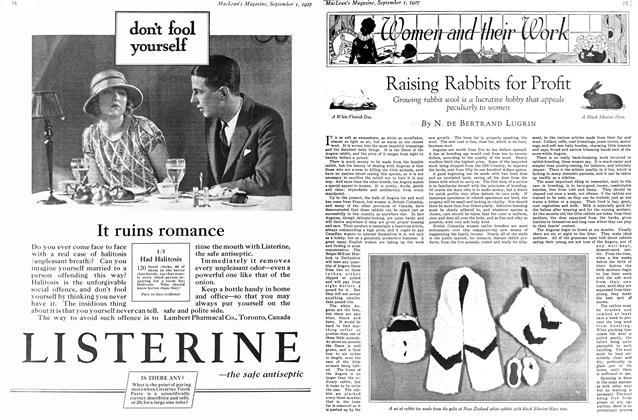 Article Preview: Raising Rabbits for Profit, September 1st 1927 1927 | Maclean's