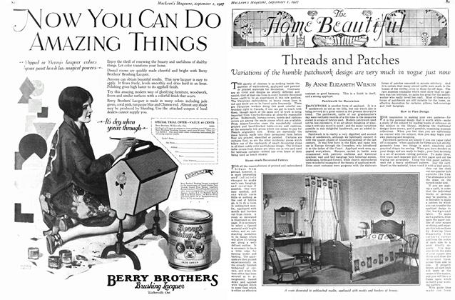 Article Preview: Threads and Patches, September 1st 1927 1927 | Maclean's