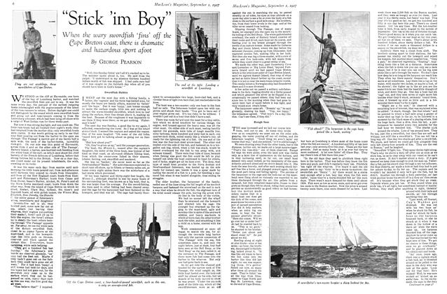 "Article Preview: ""Stick 'im Boy"", September 1st 1927 1927 