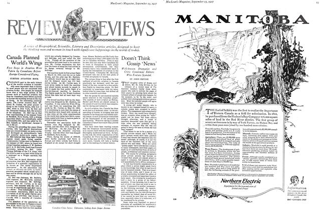 Article Preview: Doesn't Think Gossip 'News', September 15TH 1927 1927 | Maclean's