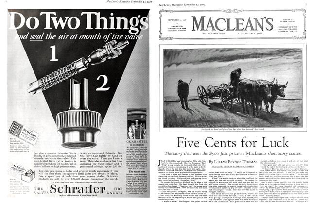 Article Preview: Five Cents for Luck, September 15TH 1927 1927 | Maclean's