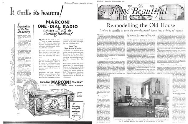 Article Preview: Re-modelling the Old House, September 15TH 1927 1927 | Maclean's