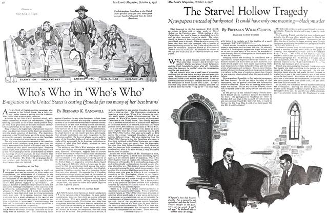 Article Preview: The Starvel Hollow Tragedy, October 1st. 1927 1927 | Maclean's