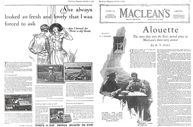 Article Preview: Alouette, October 1st. 1927 1927 | Maclean's