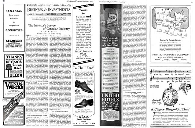 Article Preview: The Investor's Survey of Canadian Industry, October 1st. 1927 1927 | Maclean's